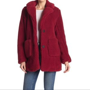 Sebby Collection Teddy Sherpa Faux Fur Jacket